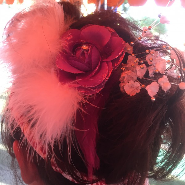 ぼした祭りかわいい髪型髪飾り