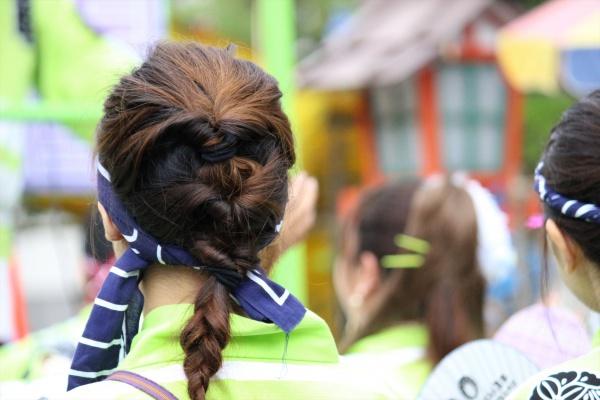 ボシタ祭り髪型シンプル編み込み系
